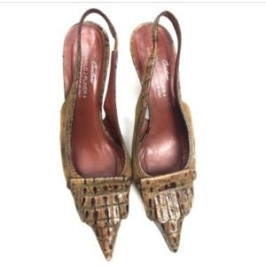 Donald J Pliner Couture Slingback Heels 7.5 Fringe
